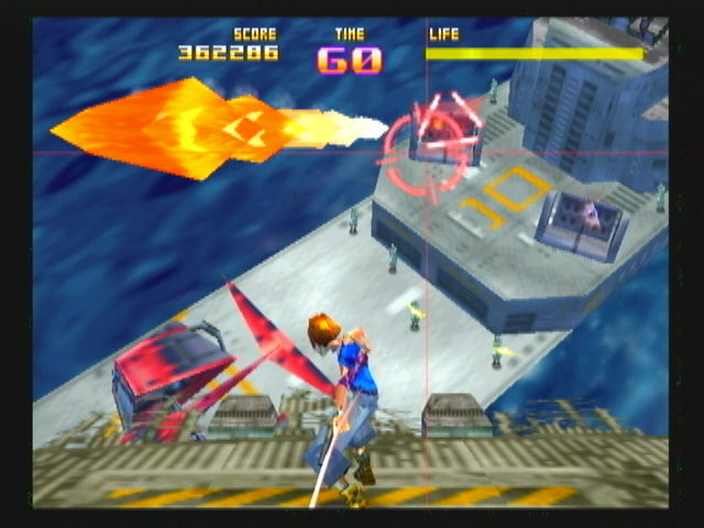 Sin and Punishment Wii Reflecting a missile with your sword, it will head toward whatever you were targeting.