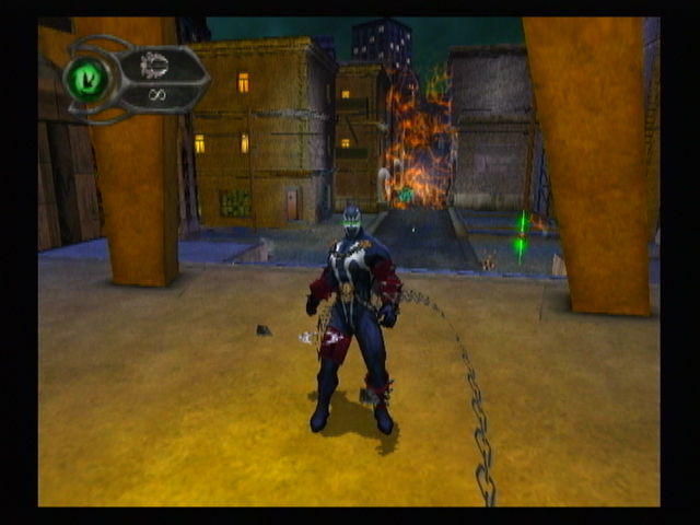 Spawn: Armageddon GameCube Using chains.