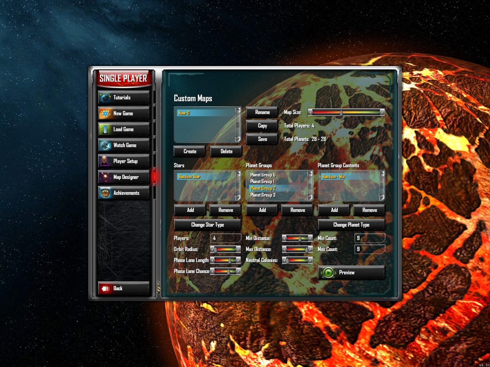 Sins of a Solar Empire Windows The map creator.