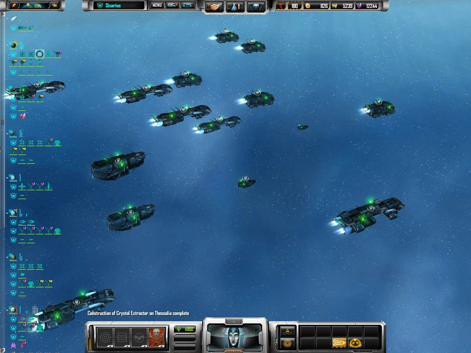 Sins of a Solar Empire Windows A fleet of pirates on a raid.