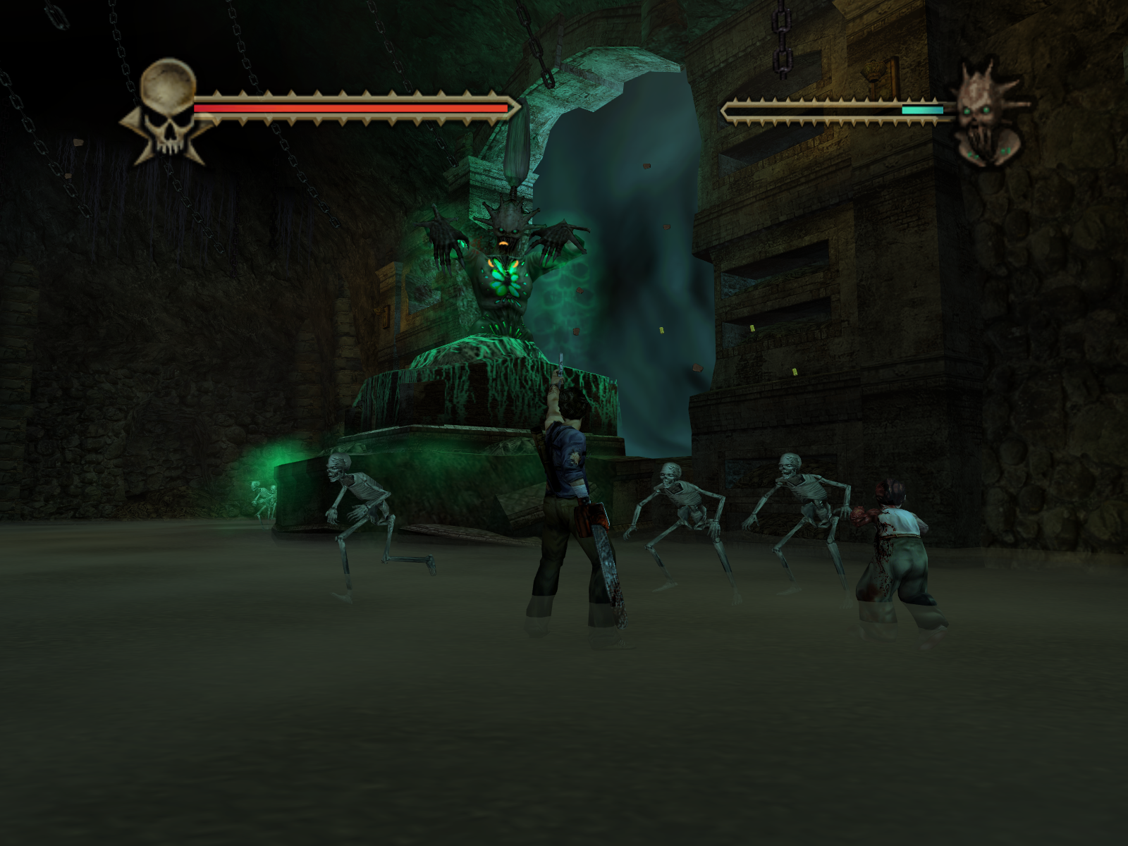 Evil Dead: Regeneration Windows Another intense boss fight. Not only do you have to look out for her attacks but of all her minions as well.