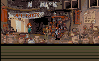 Indiana Jones and the Fate of Atlantis Amiga The local merchant.