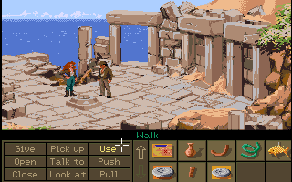 Indiana Jones and the Fate of Atlantis Amiga I think I need to use the stone disks.