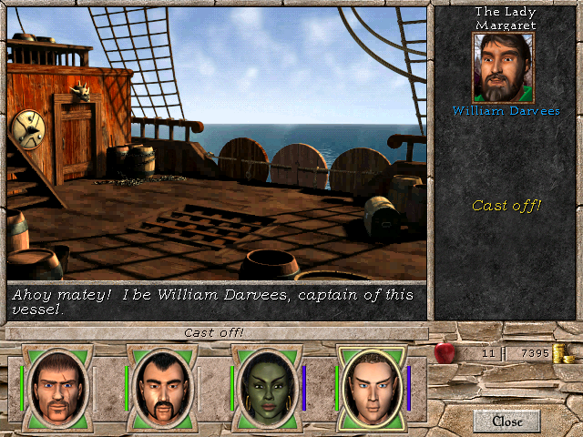 Might and Magic VII: For Blood and Honor Windows The first of many ships the party will board