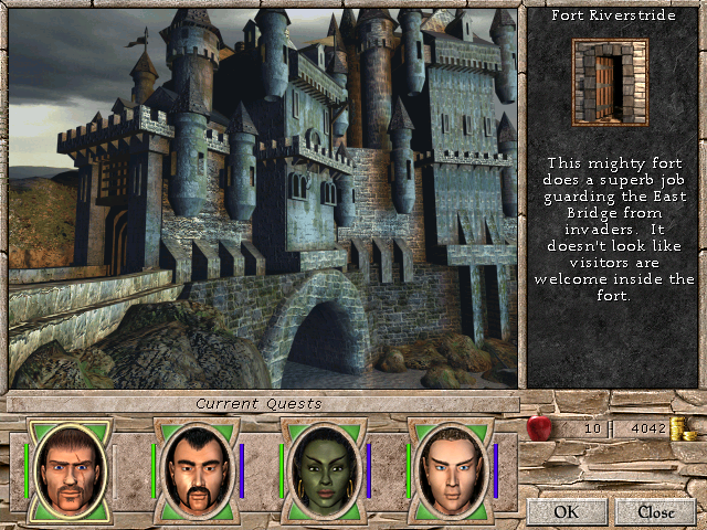 Might and Magic VII: For Blood and Honor Windows The enter screens for palaces, forts, fortified cities, etc., are very well done