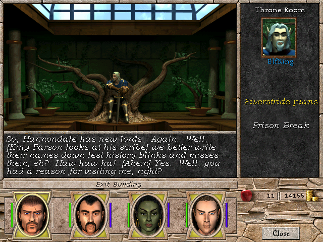 Might and Magic VII: For Blood and Honor Windows This Elven royalty is just obnoxious enough that one doesn't feel much shame in double-crossing him