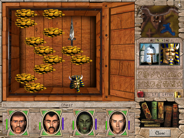 Might and Magic VII: For Blood and Honor Windows The first piece of golem (there is another golem head, but it's not a good idea to use it...)