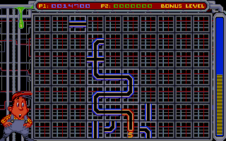 Pipe Dream Amiga The bonus scoring game.