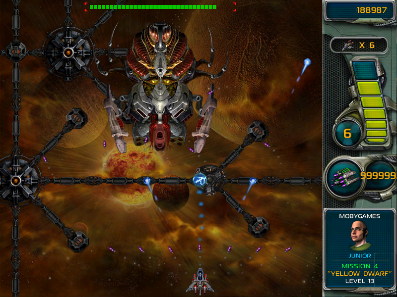 Star Defender III Windows The boss of this world is dispatched pretty easily.