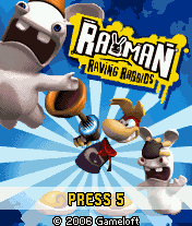 Rayman Raving Rabbids J2ME Title screen