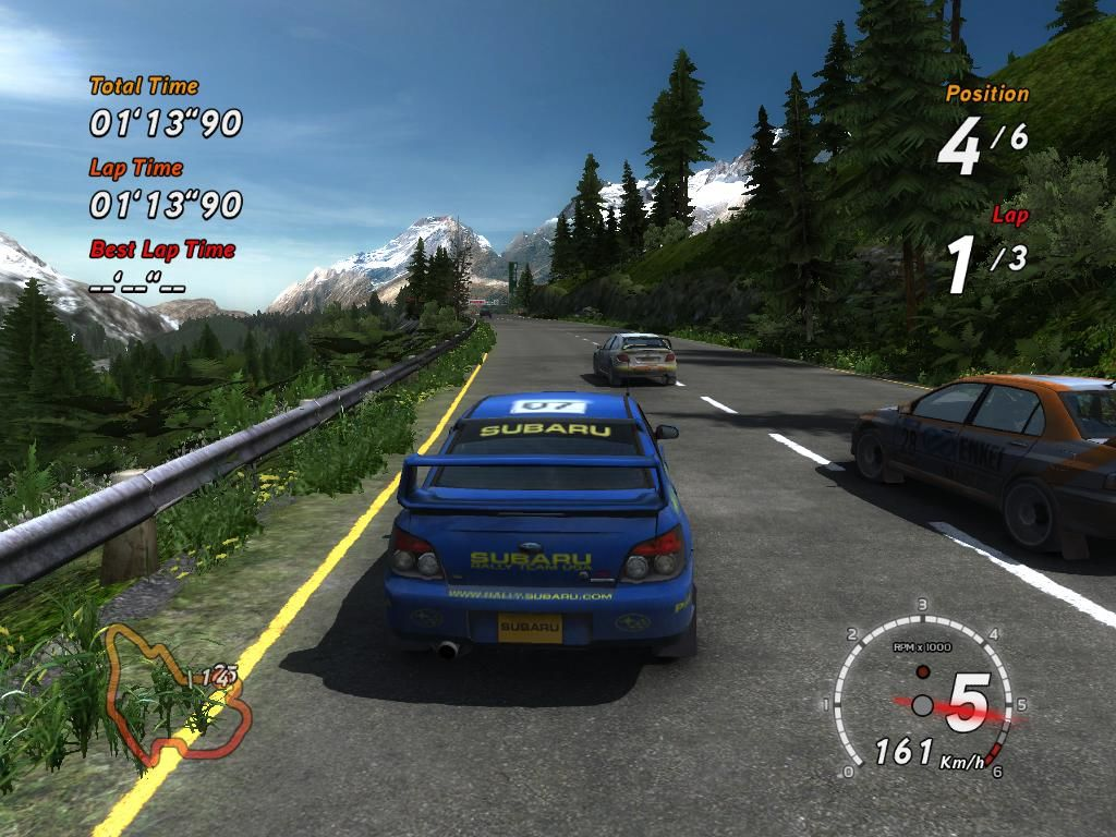 SEGA Rally Revo Windows Some races are driven at least partly on tarmac.