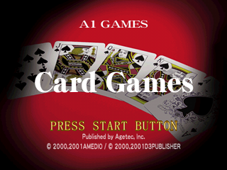 Card Games PlayStation Title screen.