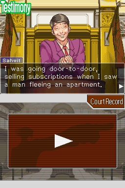 Phoenix Wright: Ace Attorney Nintendo DS Testimony