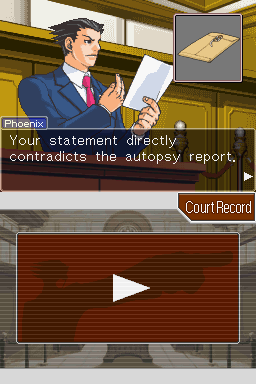 Phoenix Wright: Ace Attorney Nintendo DS Exposing lies.