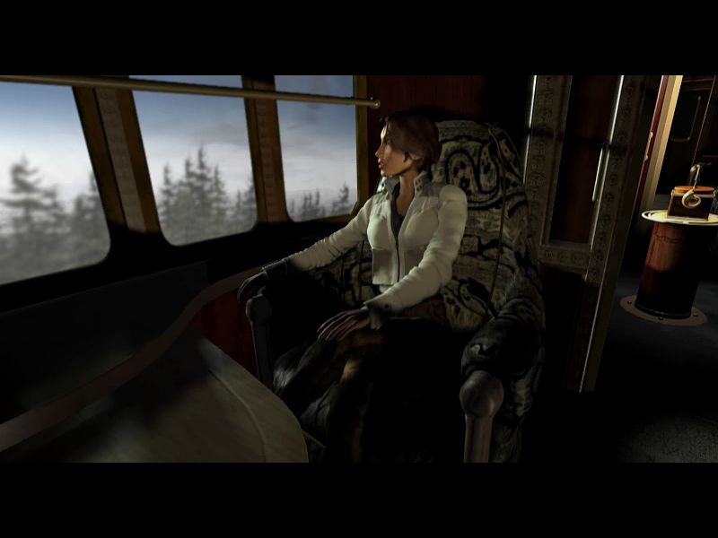 Syberia Windows Kate Relaxing On The Train