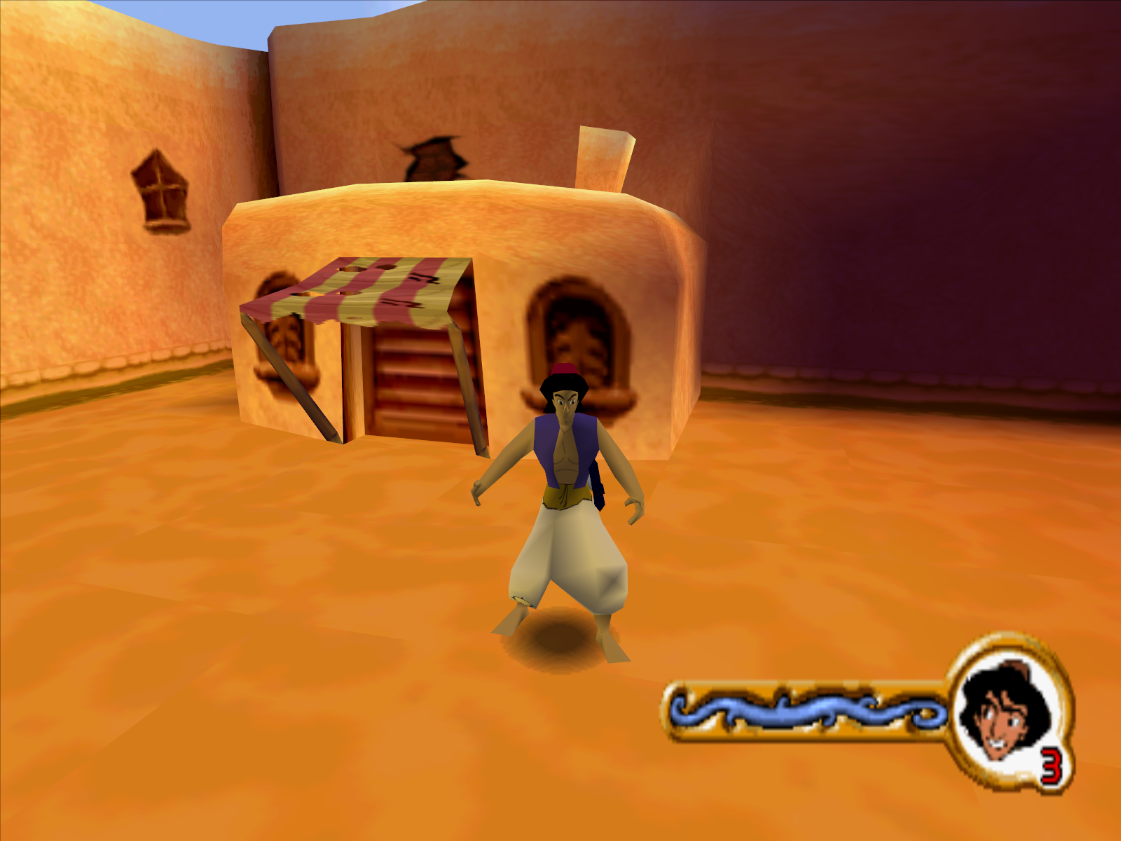 Disney's Aladdin in Nasira's Revenge Windows Aladdin!