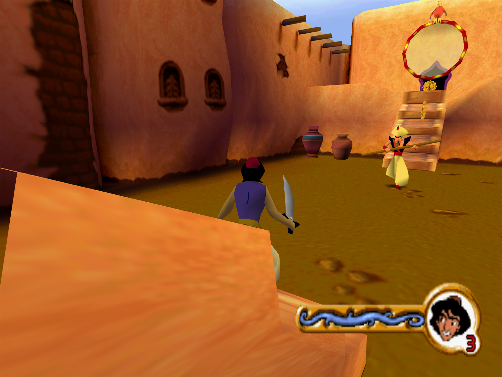 Disney's Aladdin in Nasira's Revenge Windows Getting into my first swordfight on the streets of Agrabah.