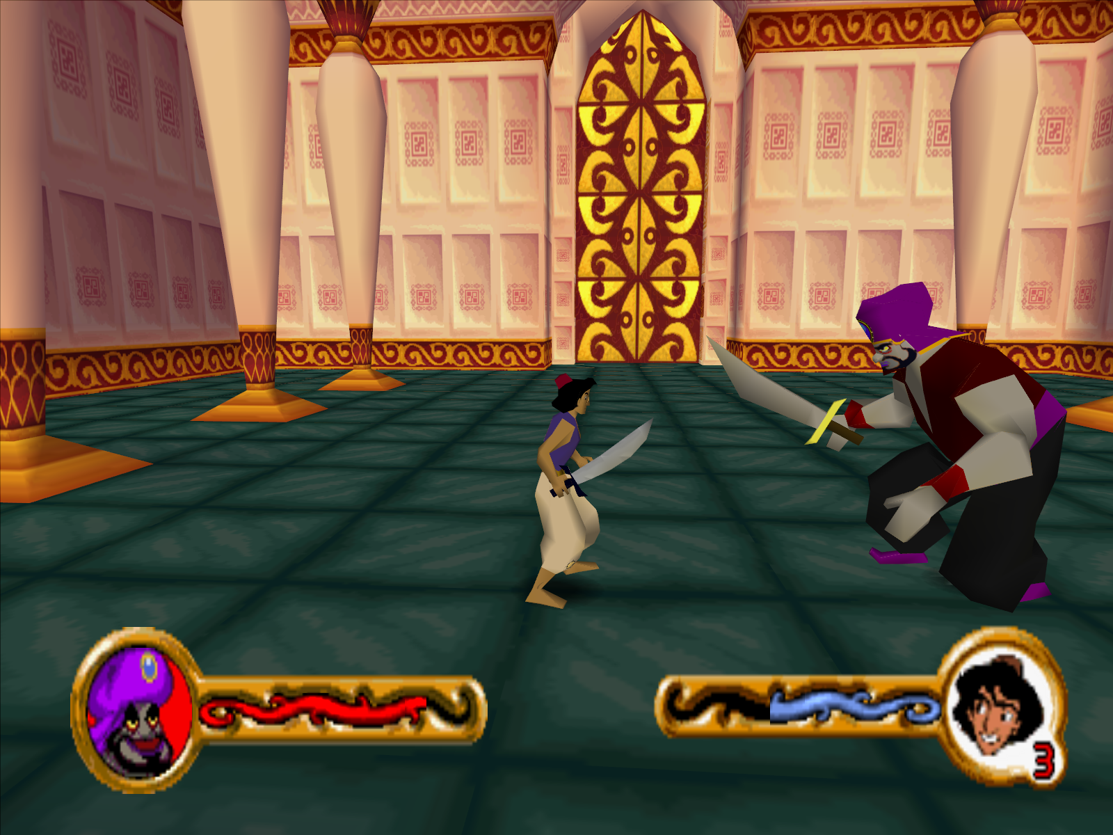 Disney's Aladdin in Nasira's Revenge Windows The duel with Razoul