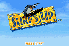 Surf's Up Game Boy Advance Title screen