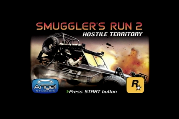 Smuggler's Run 2: Hostile Territory PlayStation 2 Title screen