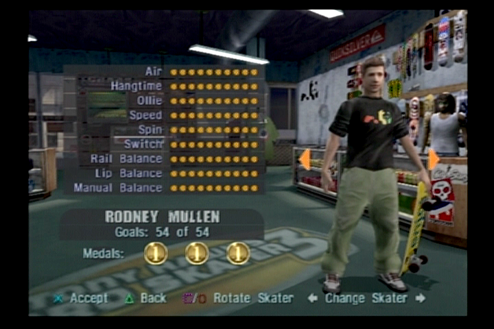 Tony Hawk's Pro Skater 3 PlayStation 2 Choose from a number of real-life skaters.