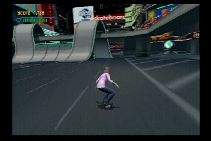 Tony Hawk's Pro Skater 3 PlayStation 2 Going for the upside-down loop ahead.