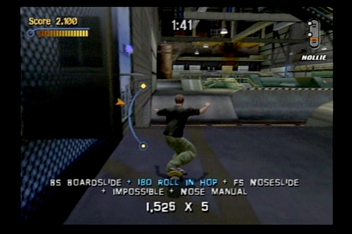 Tony Hawk's Pro Skater 3 PlayStation 2 Rodney Mullen showing what he does best—the manual.