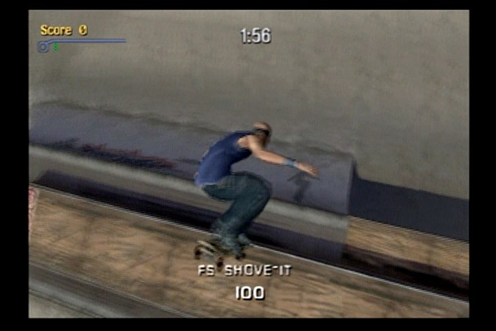 Tony Hawk's Pro Skater 3 PlayStation 2 Chad Muska settling for the least with a FS Shove-It.