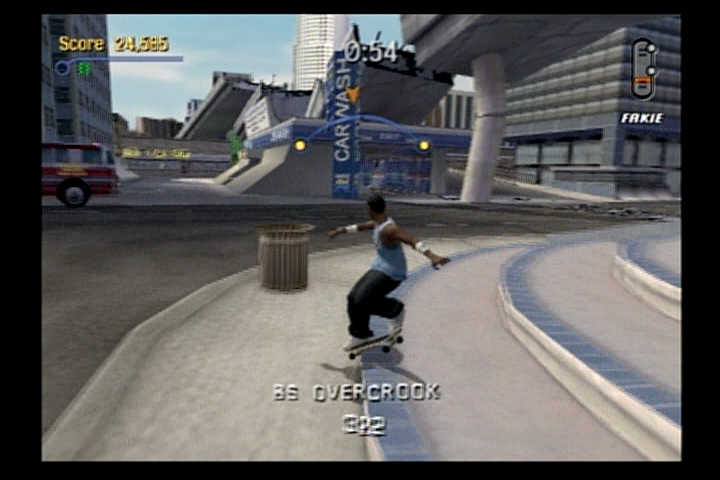 Tony Hawk's Pro Skater 3 PlayStation 2 Kareem Campbell grinding some stairs.