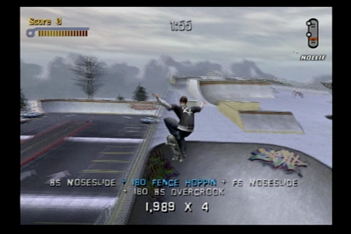 Tony Hawk's Pro Skater 3 PlayStation 2 Dropping in a bowl in Canada.