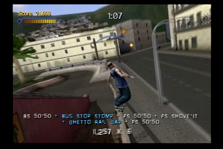 Tony Hawk's Pro Skater 3 PlayStation 2 Doing multiple trick combinations will greatly increase your points.