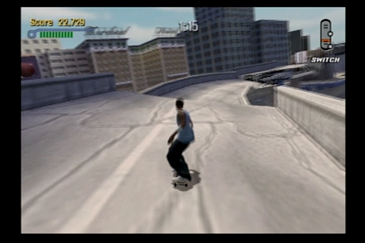 Tony Hawk's Pro Skater 3 PlayStation 2 The streets of LA after an earthquake.