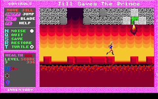 Jill of the Jungle: Jill Saves the Prince DOS Lava!