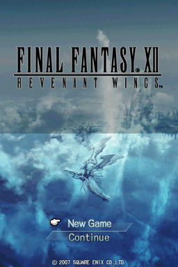 Final Fantasy XII: Revenant Wings Nintendo DS Title screen