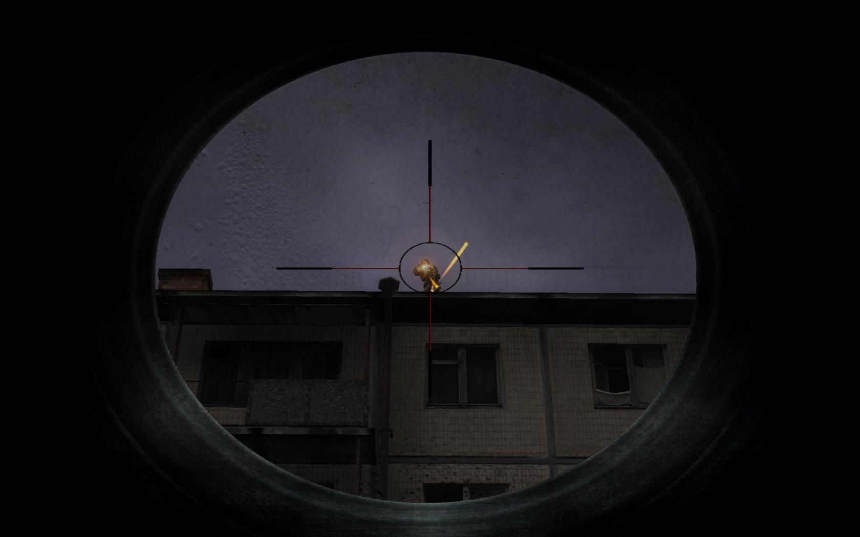 "S.T.A.L.K.E.R.: Shadow of Chernobyl Windows ""Sniping"" a sniper"