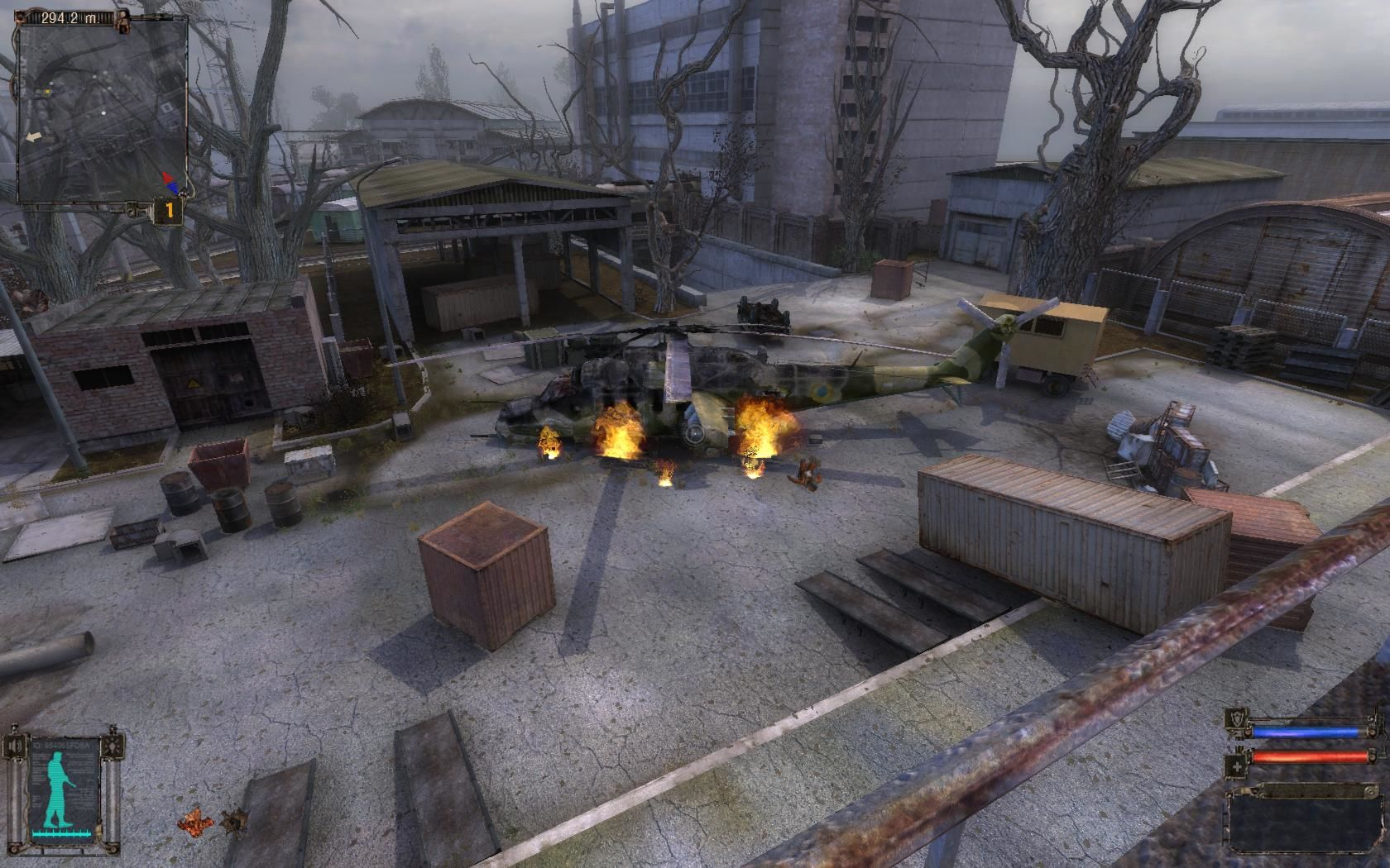 S.T.A.L.K.E.R.: Shadow of Chernobyl Windows Mercenaries shoot down an helicopter