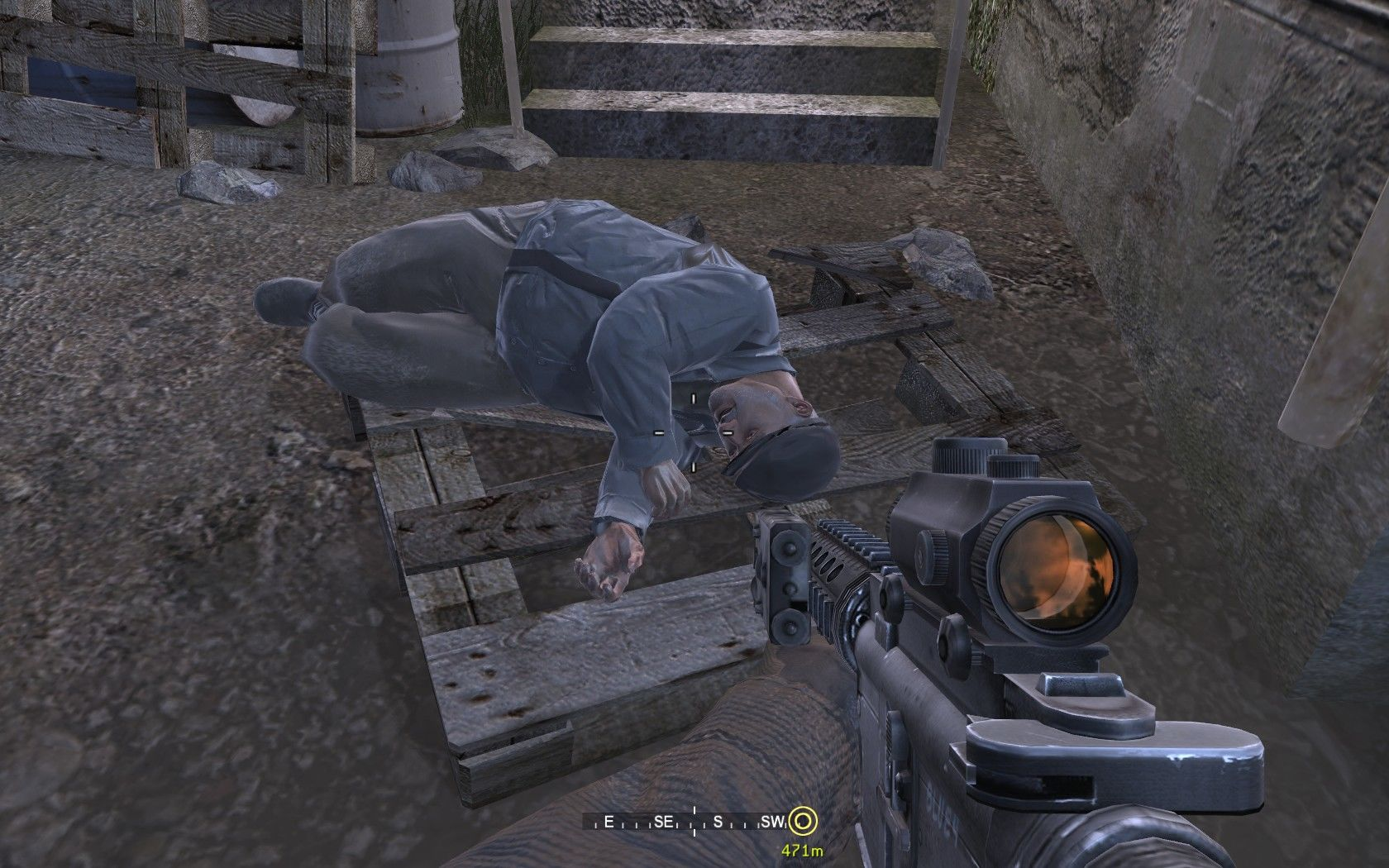 Call of Duty 4: Modern Warfare Windows The only civilian in the whole game (don't worry, the bad guys killed him).