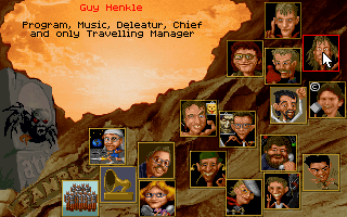 Realms of Arkania: Star Trail DOS The very funny credits screen. Look, it's Guy Henkle ( aka Guido Henkel )