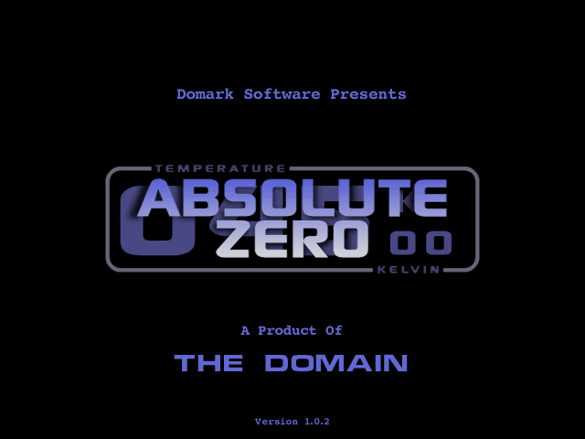 Absolute Zero DOS Title screen