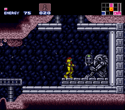 Super Metroid SNES These statues always carry interesting items - like super missiles