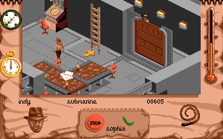 Indiana Jones and The Fate of Atlantis: The Action Game Amiga Level 2, the Nazi sub.