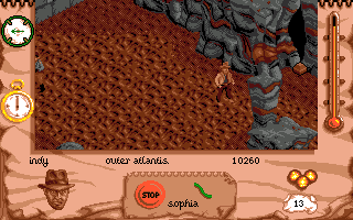 Indiana Jones and The Fate of Atlantis: The Action Game Amiga Inside of Atlantis.