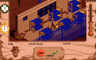 Indiana Jones and The Fate of Atlantis: The Action Game Amiga Inside Nazi barracks.