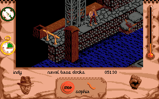 Indiana Jones and The Fate of Atlantis: The Action Game Amiga Level 3 - the submarine base.