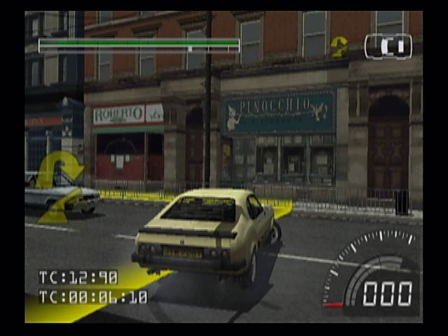 Stuntman PlayStation 2 Follow the yellow markers on the road... You'll need to precisely follow the onscreen and verbal prompts in order to make the director happy (who for some reason wants all the stunts in one take).