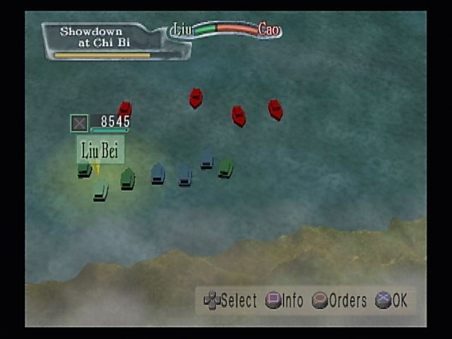 Kessen II PlayStation 2 You sunk my battleship! The strategic map allows for quick overviews of battles and changes in strategy.