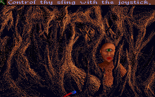 Sinbad and the Throne of the Falcon Amiga Like David with Goliath, our hero confronts the Cyclops with a sling