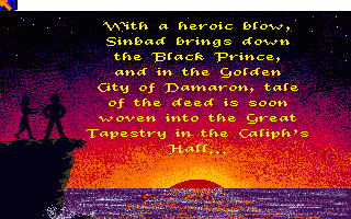 Sinbad and the Throne of the Falcon Amiga With the Black Prince taken care of, his troops are no longer a threat to the Capital. But your quest is far from over