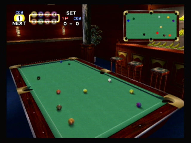 Super Monkey Ball GameCube Monkey billiards