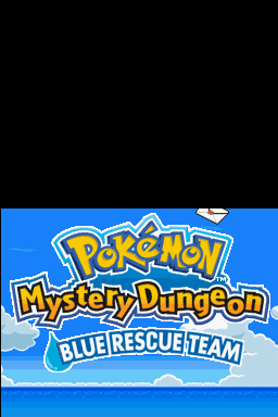 Pokémon Mystery Dungeon: Blue Rescue Team Nintendo DS Title screen